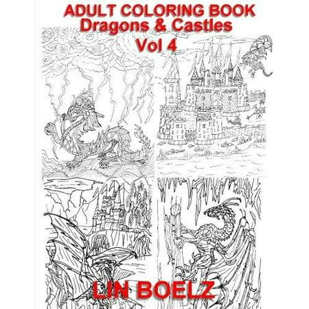 Adult Coloring Book Fantasy Dragons Amp Castles