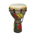 "Remo 16""x27"" Key-Tuned Leon Mobley Djembe in Multi-Mask Fabric Finish"