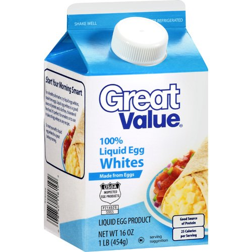 Great Value 100% Liquid Egg Whites, 16 oz