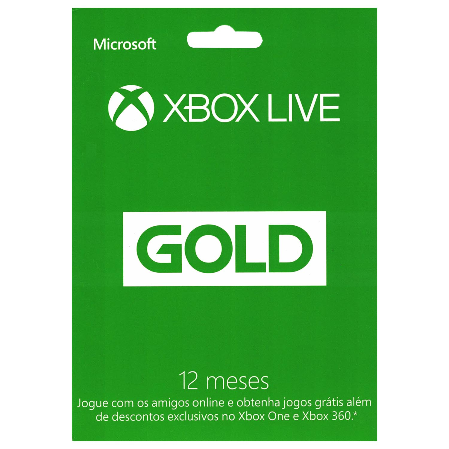 Xbox LIVE 12 Month Gold Card for Xbox One / 360 Microsoft