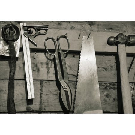 Tools Of The Trade Canvas Art - Don Hammond  Design Pics (32 x 22)