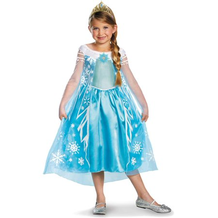 Disney Frozen Deluxe Elsa Costume With Headband