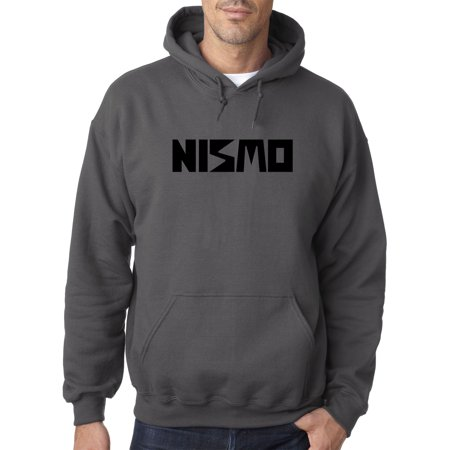 - New Way 915 - Adult Hoodie Nismo Old School Logo Nissan Motorsports Sweatshirt Small Charcoal