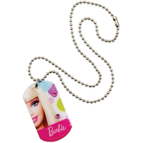 Mattel 1460686 Barbie All DollD Up Dog Tag Necklace 1 Piece -  Case of 36