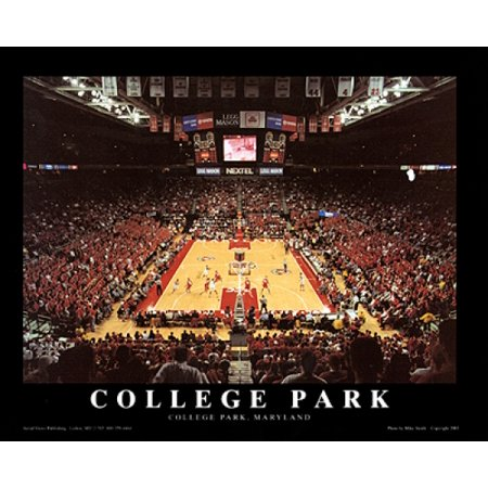 College Park Maryland   Comcast Center Poster Print By Mike Smith  28 X 22