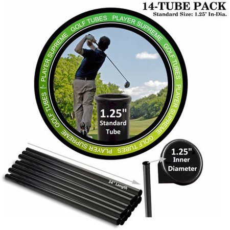 Player Supreme Golf Tubes/Dividers, 14-Pack, STANDARD, 1 1/4