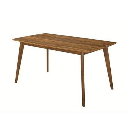 Coaster Company Garcetti Retro Dining Table, Walnut 1 Inch Dining Table Set