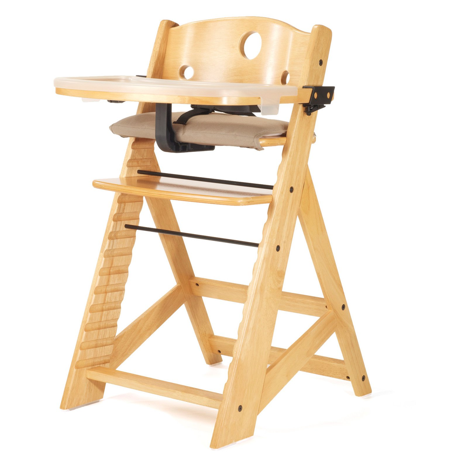 Keekaroo Height Right High Chair with Tray Natural by Keekaroo