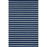 Liora Manne Sorrento Pinstripe Navy Indoor/Outdoor Area Rug