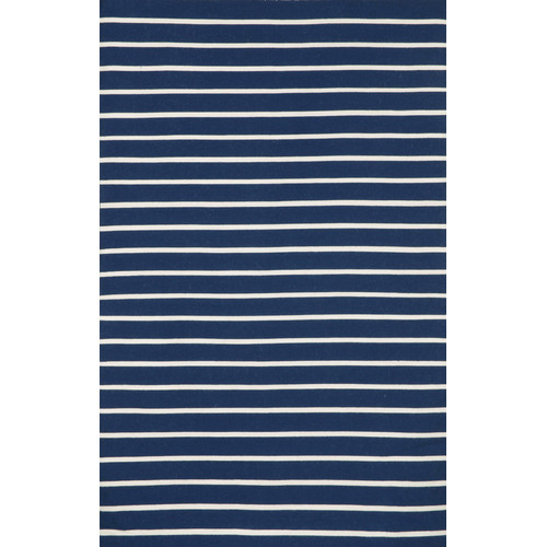 Liora Manne Sorrento Pinstripe Navy Indoor/Outdoor Area Rug