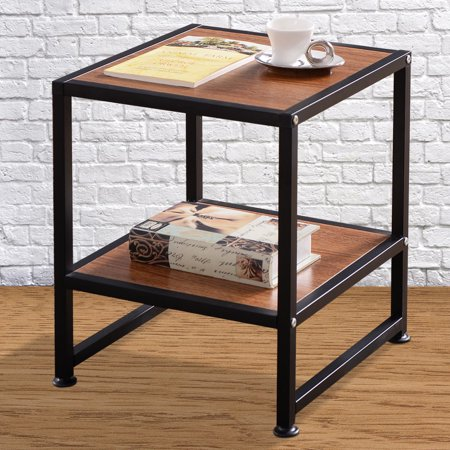 costway side sofa end table square coffee tea stand living