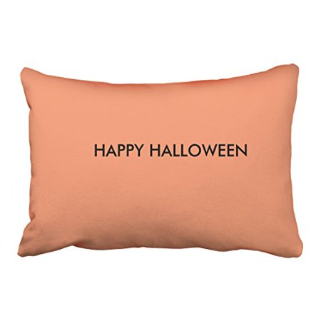 WinHome Cute Simple Fun Happy Halloween Flesh Pink Polyester 20 x 30 Inch Rectangle Throw Pillow Covers With Hidden Zipper Home Sofa Cushion Decorative Pillowcases (Simple And Cute Halloween Costumes)