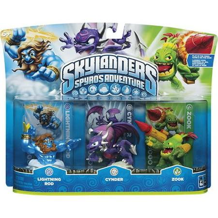Skylanders Spyro's Adventure Lightning Rod, Zook & Cynder ...