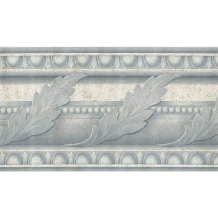 878613 Blue/Gray Acanthus Leaf Wallpaper Border AJ102500](Leaf Boarder)