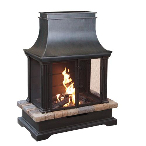 BOND Sevilla Wood Burning Outdoor Fireplace by Overstock