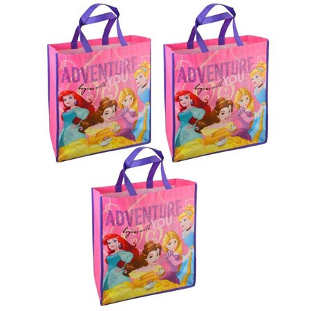 Disney Disney Princess Reuseable Eco Friendly Large Shopping Tote Bags (3pc Set) Novelty Fashion Accessories