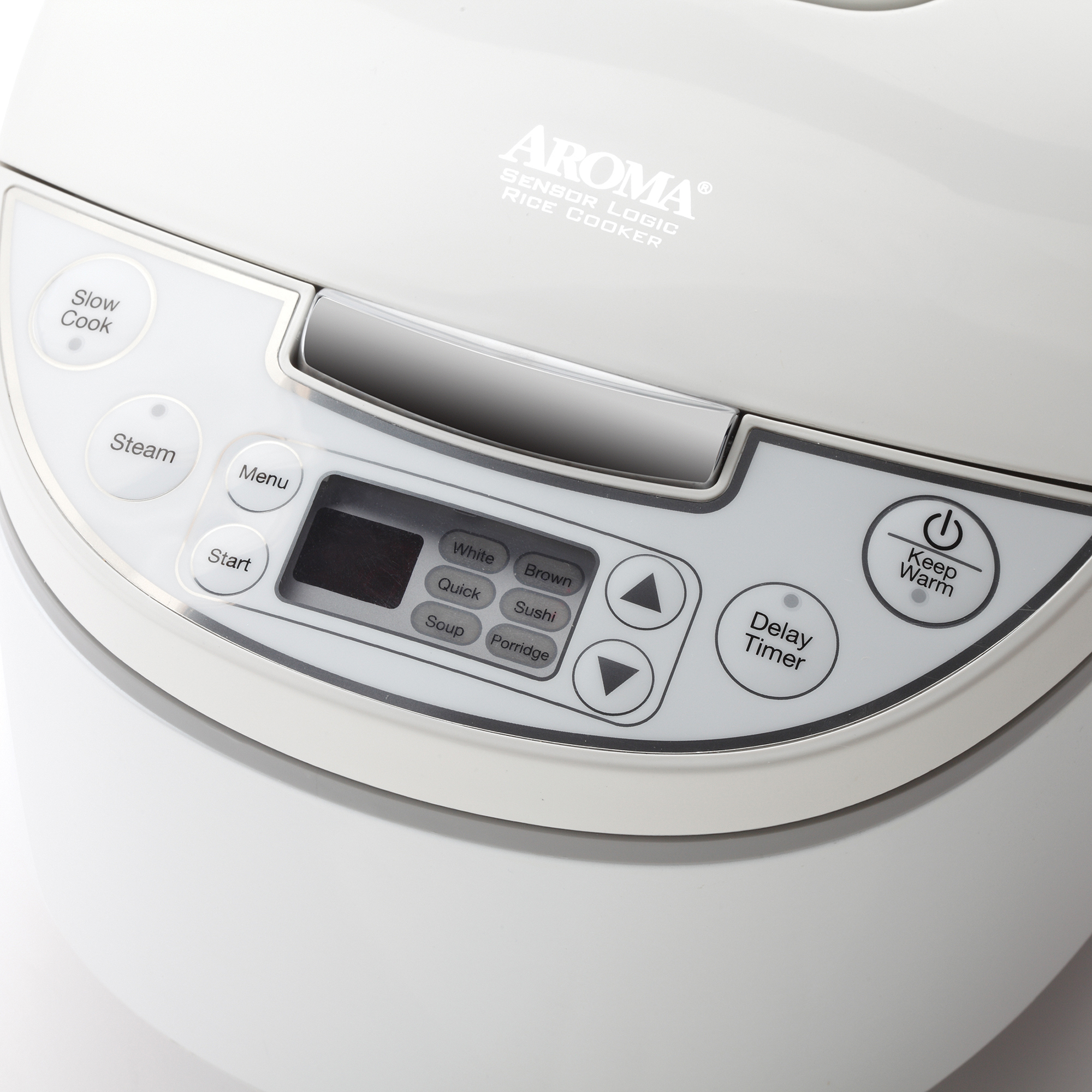 Aroma 12-Cup Cool-Touch Digital Egg-Shaped Rice Cooker, White