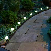 Solar Powered Plastic Pathway/String Lights (8 Lights) White