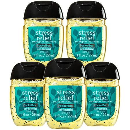 Bath and Body Works Stress Relief Pocketbac - Bundle of FIVE! Eucalyptus Spearmint - Bath And Body Works Halloween Sanitizer