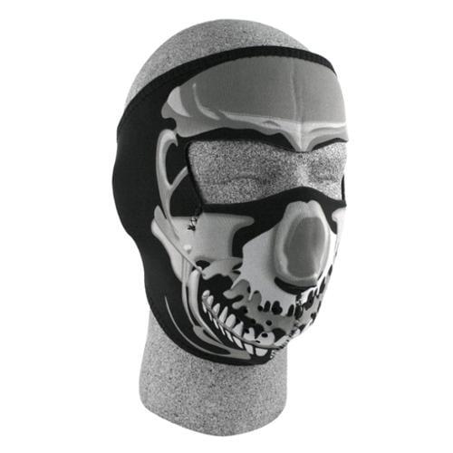 ZANheadgear Neoprene Skull Face Mask (Chrome Black) by Zan Headgear