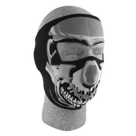 5d5ab2fb7a1 ZANheadgear Neoprene Skull Face Mask (Chrome Black) - Walmart.com
