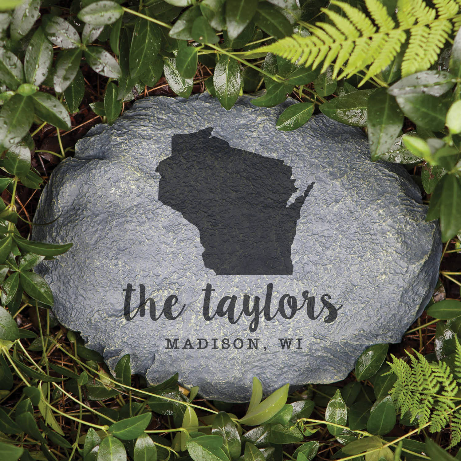 Home State Personalized Garden Stone