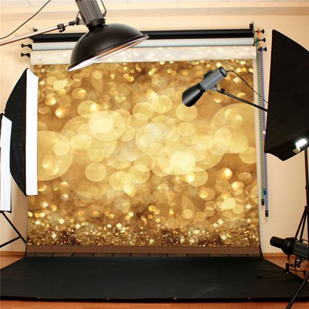 10X10FT Gold Spots Glitter Backdrop Sparkle Studio Photo Photography Background  Screen Props Video Photoshoot Wedding Party Booth Decor