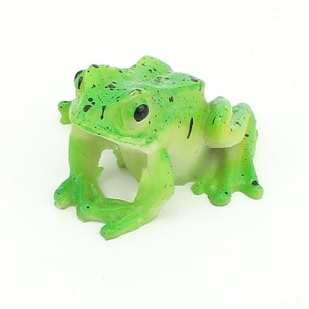 Ceramic Aquascaping Aquarium Fish Tank Emulational Frog Decor Green