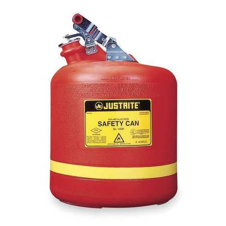 Justrite 14561 5 gal. Type I Safety Can, Red