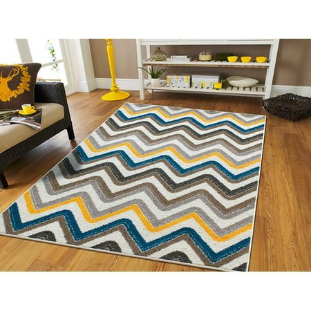 Large 8x11 Rugs For Living Room Zigzag