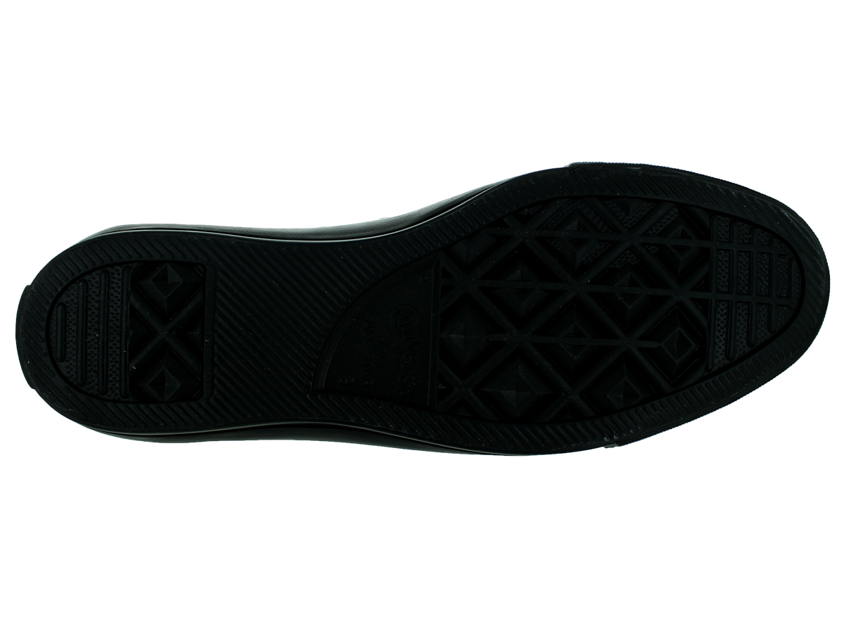 Converse 132253C: All Star Chuck Taylor Ox Black Mono Leather Women Sneakers (7 B(M) US Women Leather / 5 D(M) US Men) 04b7ba