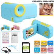 VONTER 16MP Kids Digital Video Camera Toys for 3-12 Years Old Girls 1080P 2 inch IPS Screen Camera for Age 3 4 5 6 7 8 9 Yeas Old Toddler Kids Girls Best Birthday Gift Toys with 32G SD Card