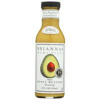 Briannas Salad Dressing, Dijon Honey Mustard, 12 fl oz