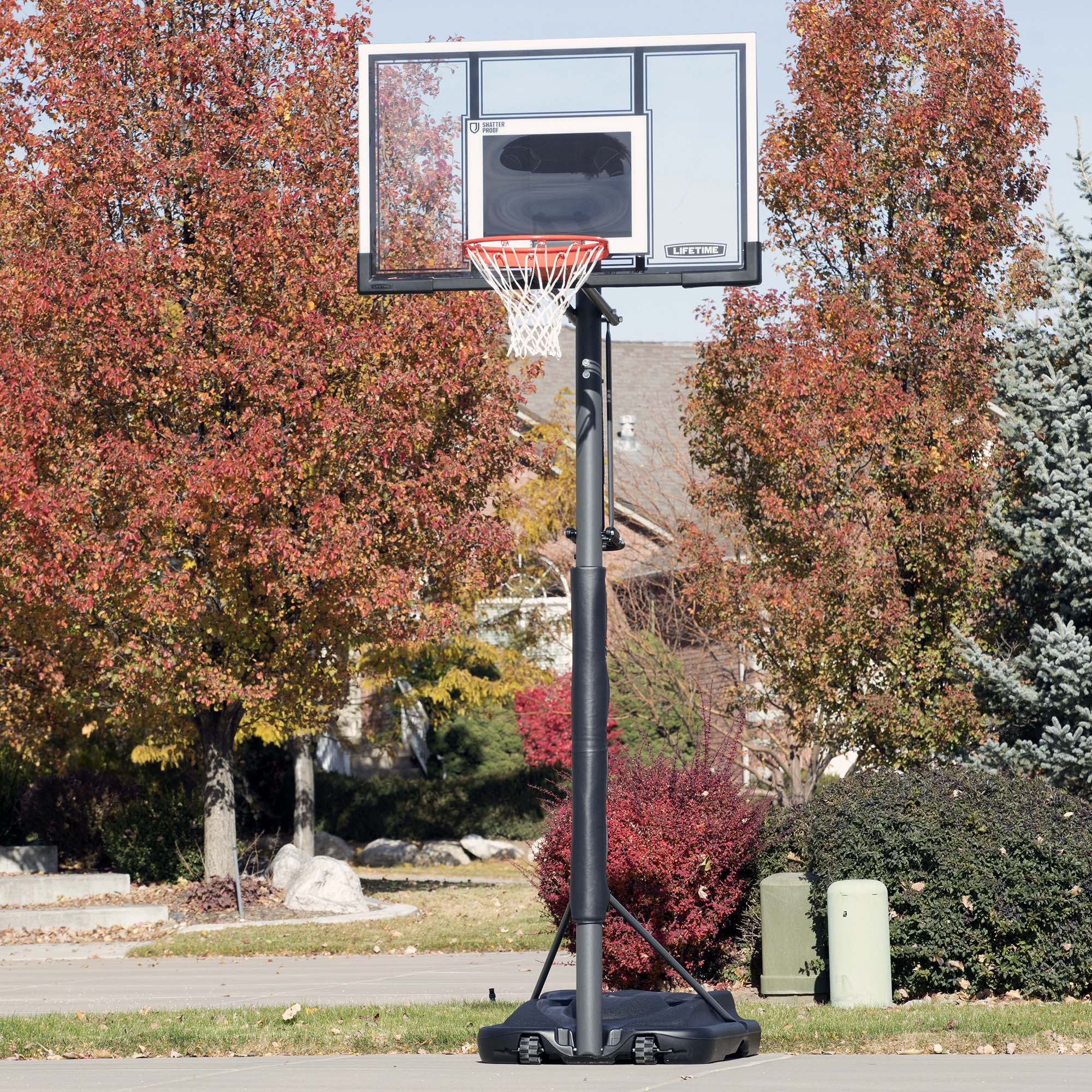 "Lifetime 54"" Shatterproof Portable Infinate Height Adjustable Basketball  System, 71524 - Walmart.com"