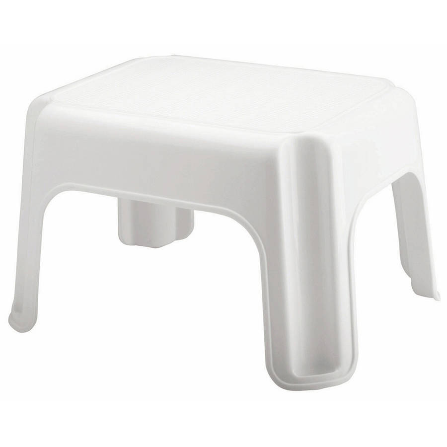 Rubbermaid 4200-87WHT Roughneck Step Stool  sc 1 st  Walmart : black plastic step stool - islam-shia.org