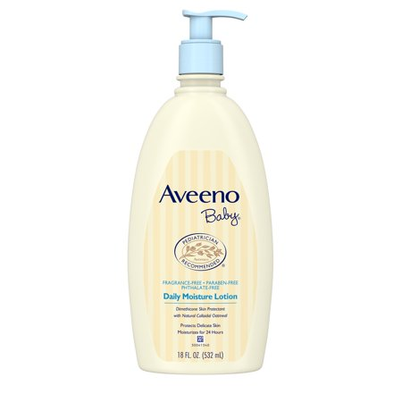 Aveeno Baby Daily Moisture Lotion with Natural Colloidal Oatmeal, 18 fl. (Best Natural Baby Cream)