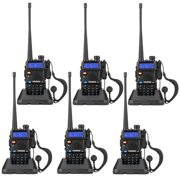 Zimtown 6 x Baofeng UV-5R UHF Dual Band Walkie Talkie with Flashlight Charger Earphone 128 Storage Channel