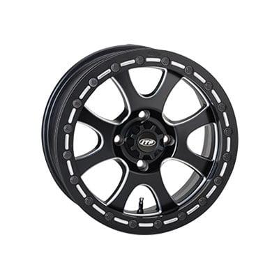4156 Itp Tsunami Wheel 15x7 40 30 Matte Black For Kawasaki Mule Pro Fxt Eps 2015 2018
