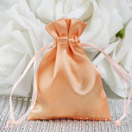 Efavormart 12PCS Satin Gift Bag Drawstring Pouch for Wedding Party Favor Jewelry Candy Solid Satin Bags - 3