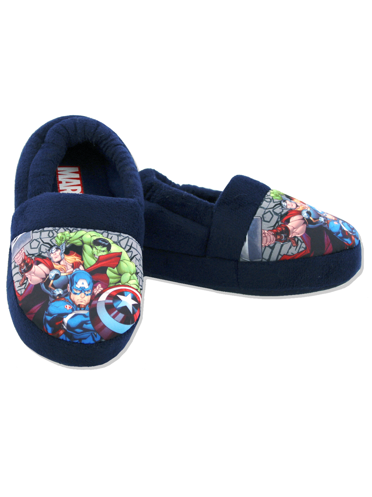 Marvel Avengers Toddler Boys Plush Aline Slippers AVF222Y