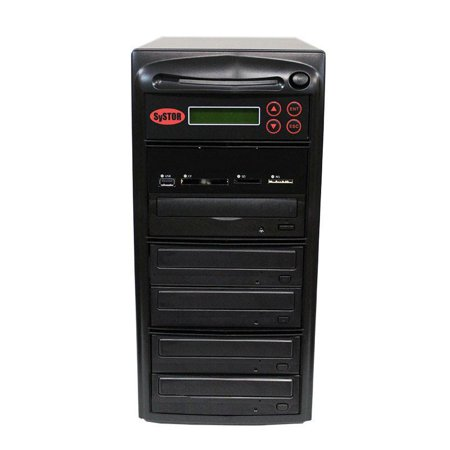 SySTOR 1:4 Blu-ray BDXL Disc Duplicator + USB/SD/CF to Disc Backup Copier
