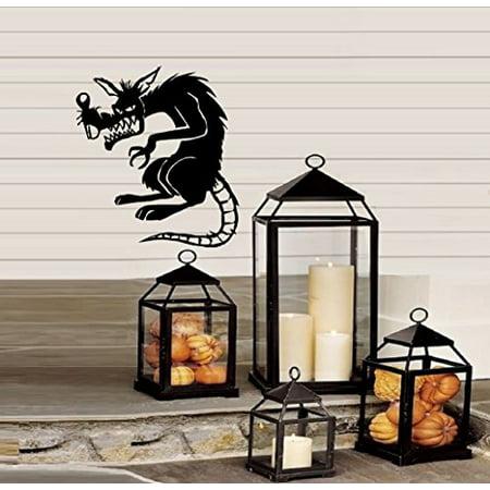 HALLOWEEN DECOR ~ Rat Scary - Halloween ~ WALL or Window Decal 13