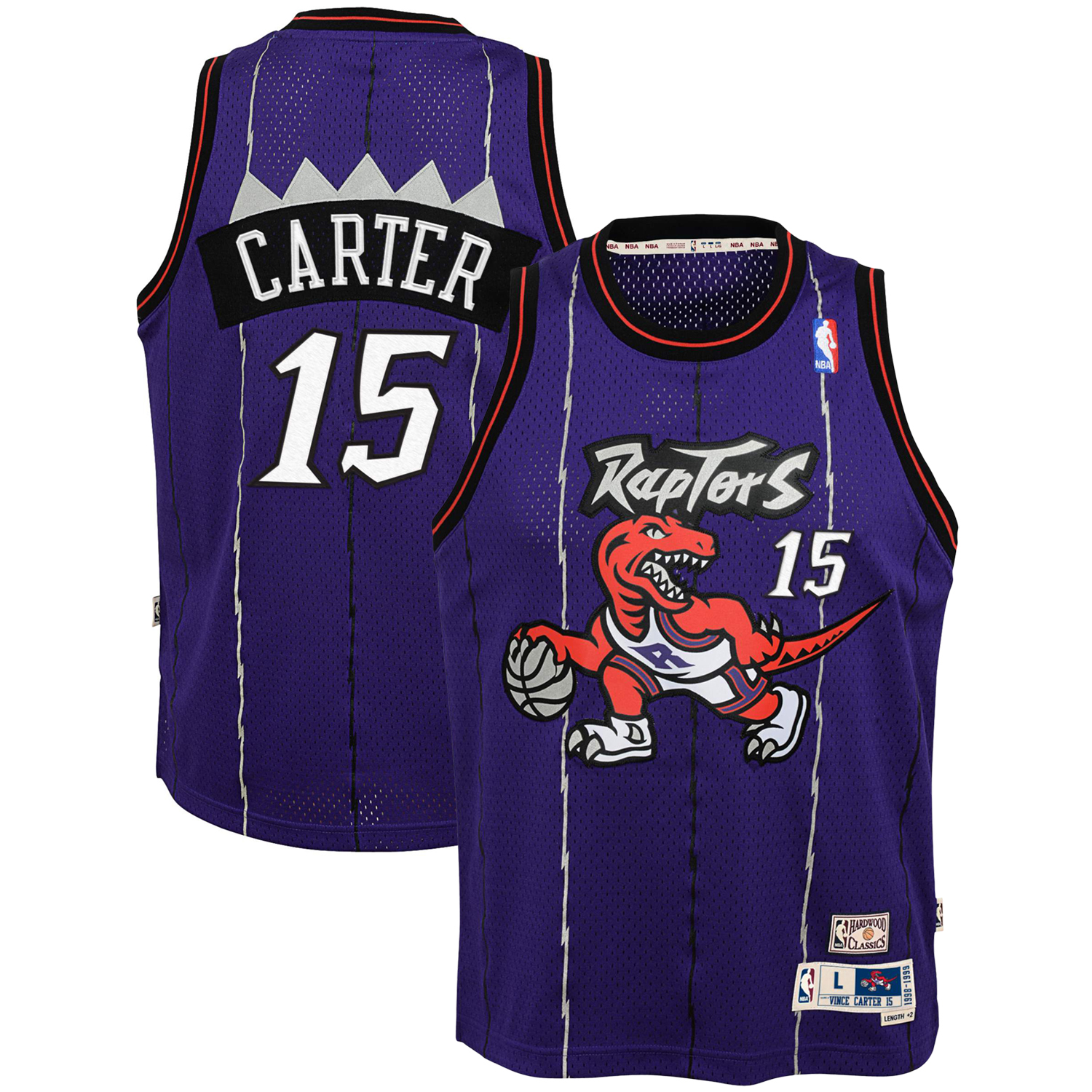 24da6aadd40 Vince Carter Toronto Raptors Mitchell & Ness Youth Hardwood Classics  Swingman Throwback Jersey - Purple - Walmart.com