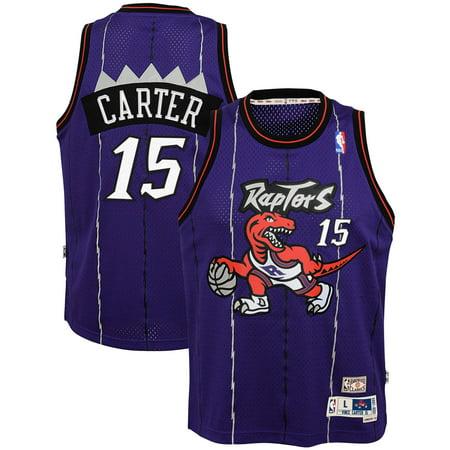 845f5a7f Vince Carter Toronto Raptors Mitchell & Ness Youth Hardwood Classics  Swingman Throwback Jersey - Purple - Walmart.com