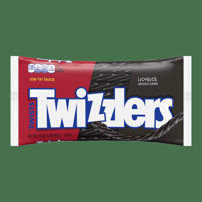 Twizzlers, Black Twists Licorice Chewy Candy, 16 Oz