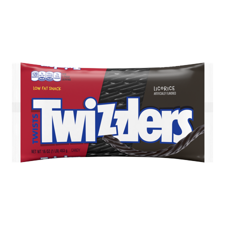 Twizzlers, Black Twists Chewy Candy, 16 - Halloween Twizzlers Calories