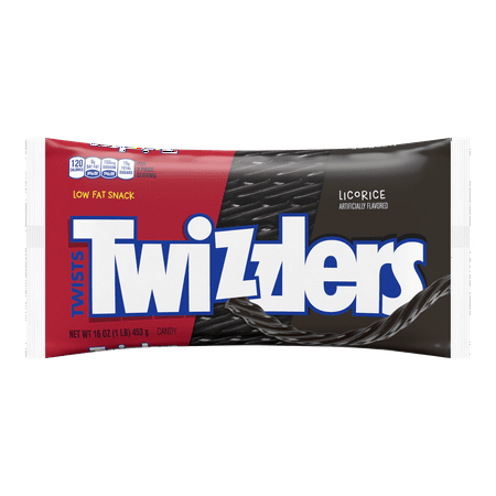 - (3 Pack) Twizzlers, Black Twists Licorice Chewy Candy, 16 Oz