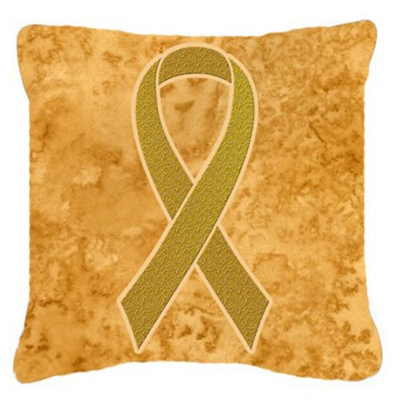Carolines Treasures Gold Ribbon for Childhood Cancers Awareness Decorative Outdoor Pillow