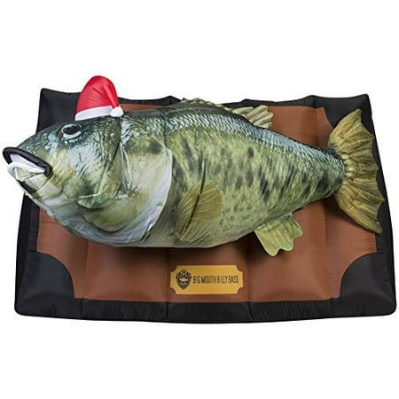 Gemmy 6.5 Feet Animatronic Lighted Musical Fish Inflatable Big Mouth Bass](Animatronics Kits)