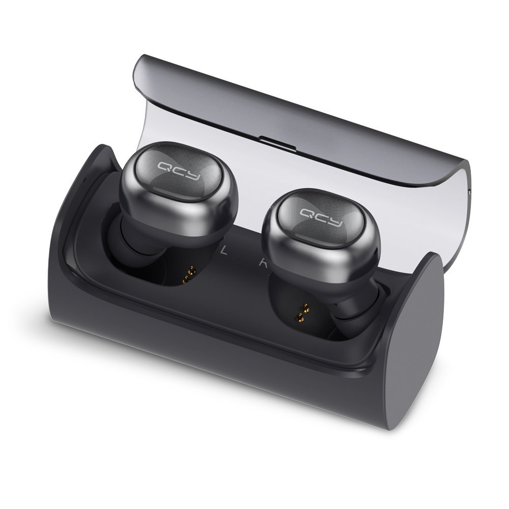 Wireless Earbud, QCY Q29 Mini Dual V4.1 Bluetooth Headphones with Charging Case 12 Hours Stereo Music Time Built Mic for IPho